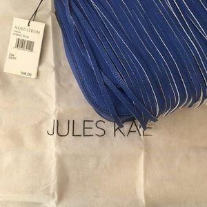 Jules Kae Cobalt Blue Fringe Crossbody Purse